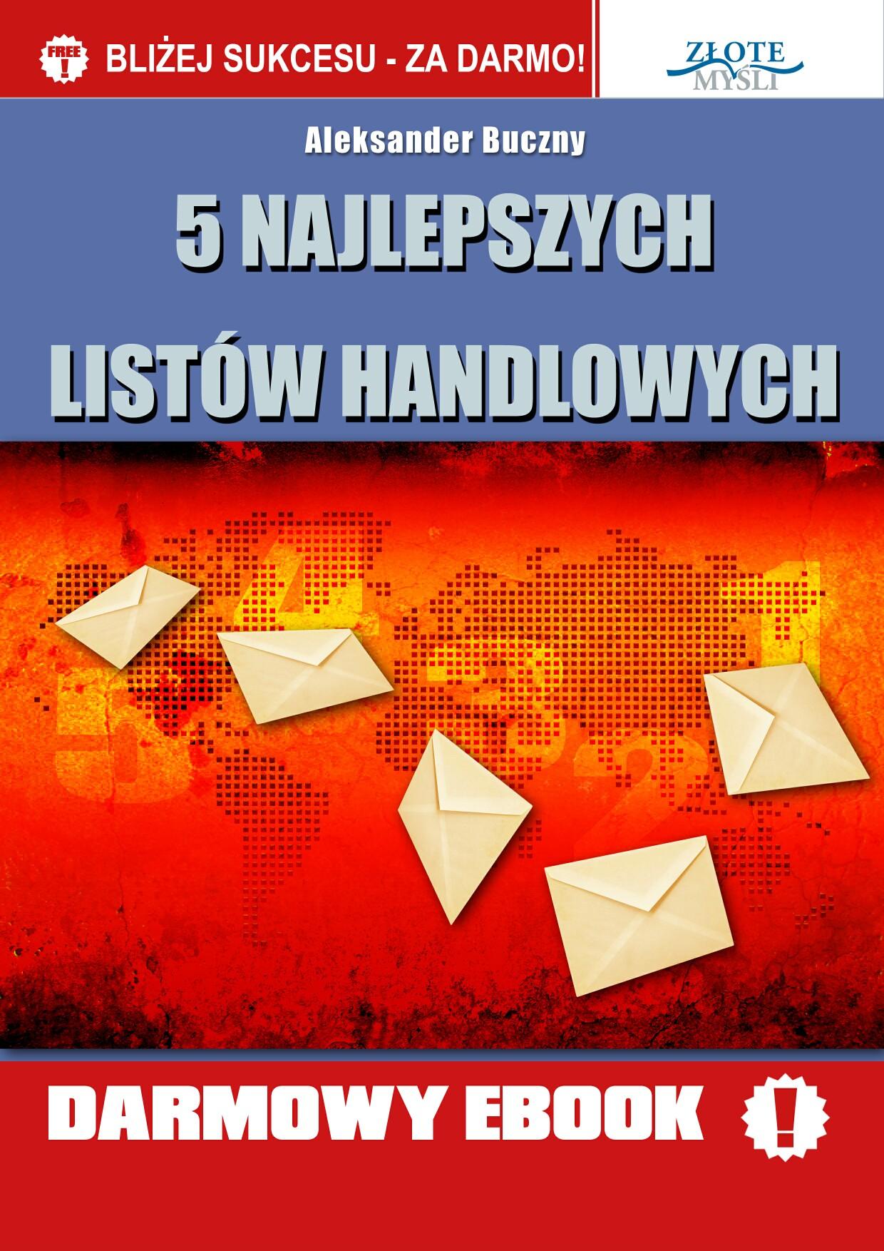 Aleksander Buczny: 5 najlepszych listów handlowych - okładka