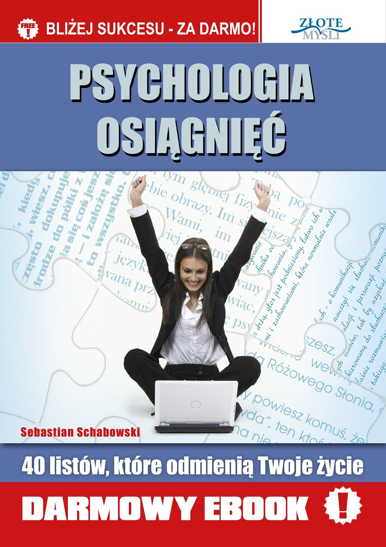 Sebastian Schabowski: Psychologia osiągnięć - okładka