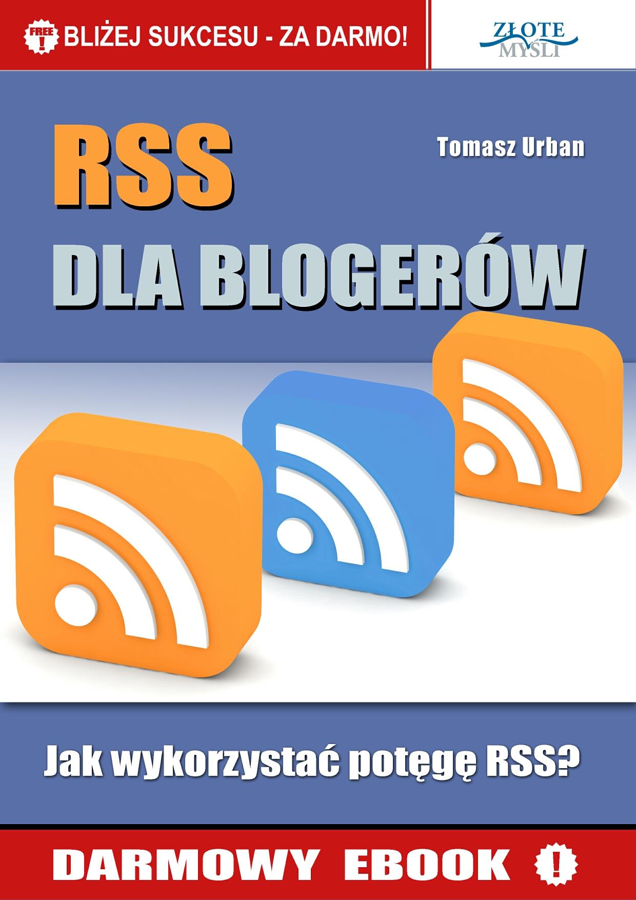 Tomek Urban: RSS dla blogerów - okładka