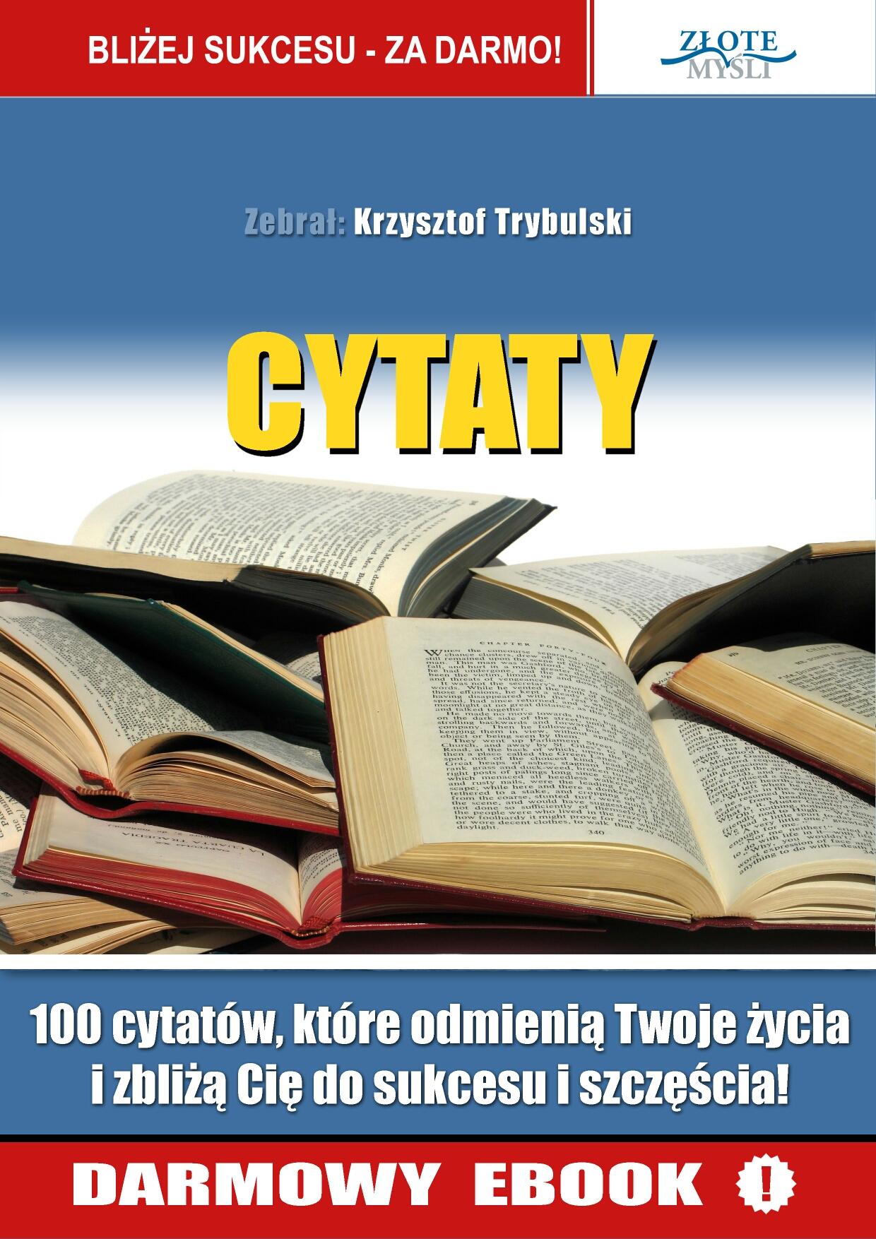 Krzysztof Trybulski: Cytaty ludzi Sukcesu - okładka