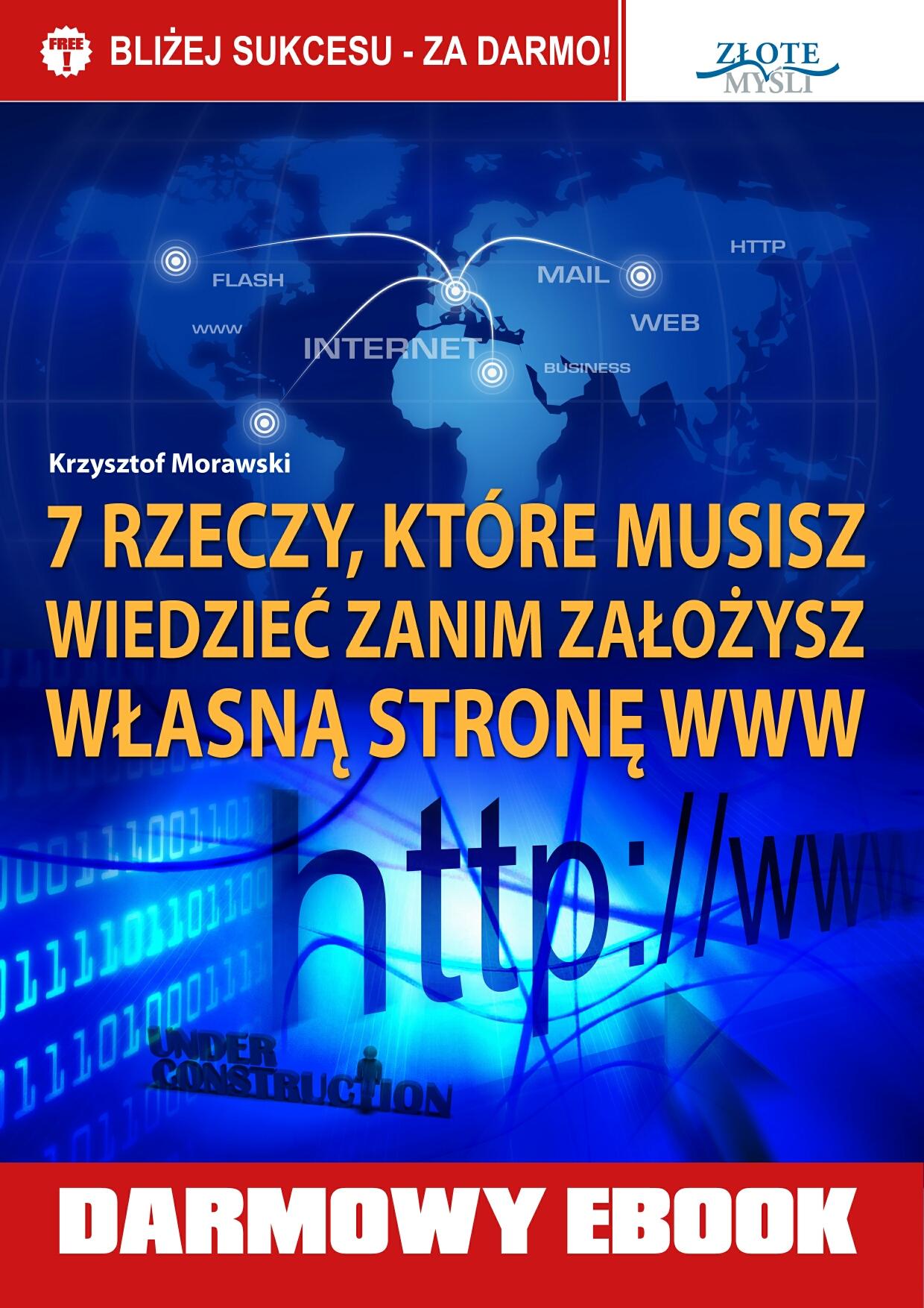 Krzysztof Morawski: 7 rzeczy, które musisz wiedzieć, zanim założysz własną stronę www - okładka