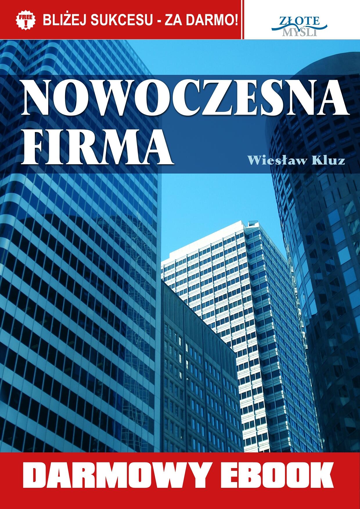Wiesław Kluz: Nowoczesna firma - okładka