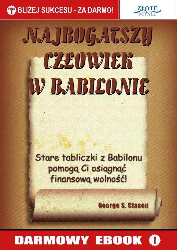George S. Clason: Najbogatszy człowiek w Babilonie - okładka